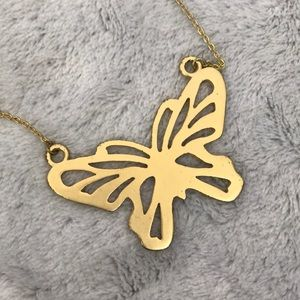🦋NECKLACE🦋 gold matte tone butterfly